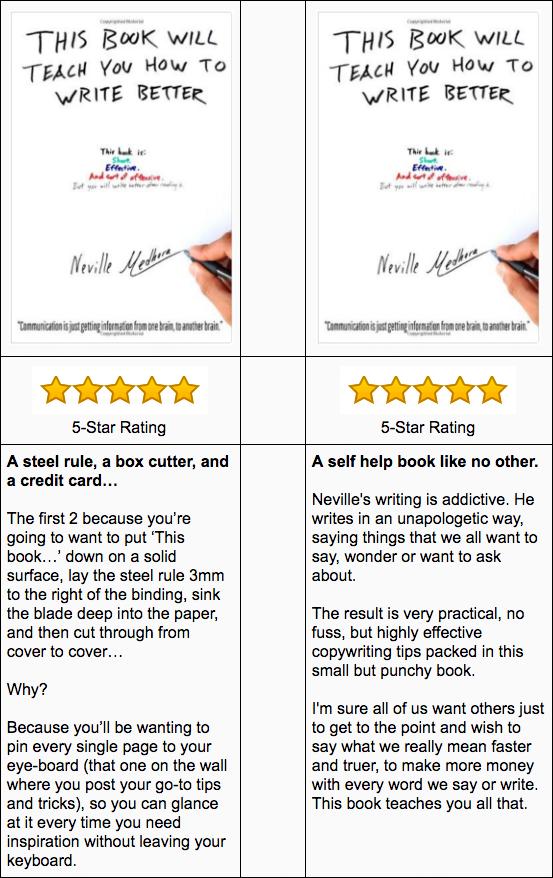 5 star rating book testimonial example