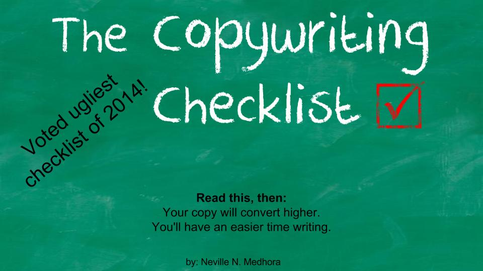 Copywriting Checklist Presentation