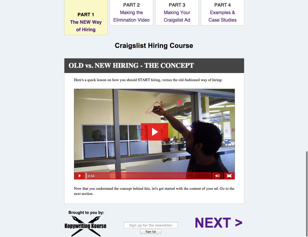 Craigslist Hiring Course   Part 1