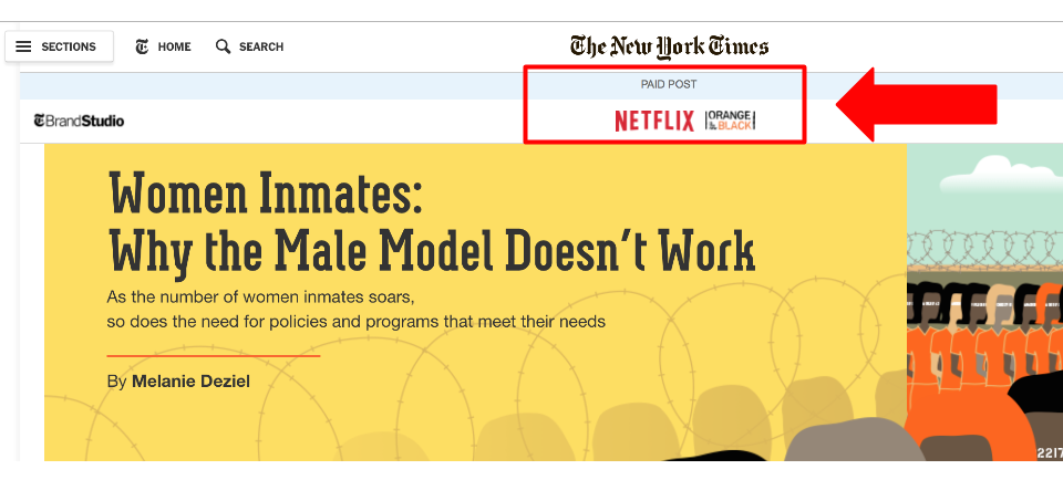 New York Times Advertorial