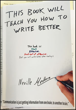Neville Medhora Book - This Book Will Teach You How To Write Better