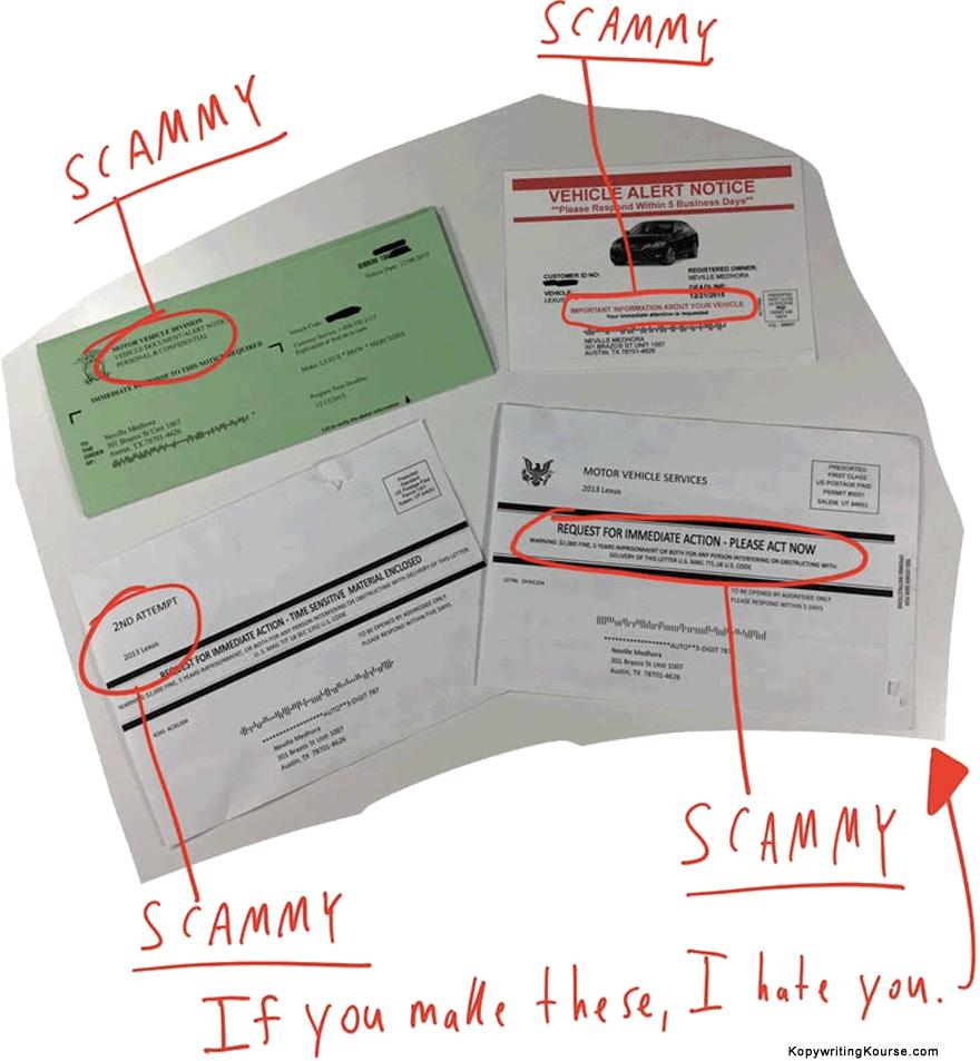 Car warranty scam flyers