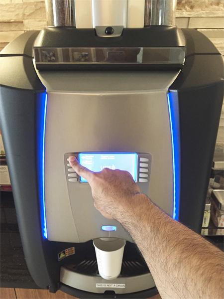 Coffee machine making