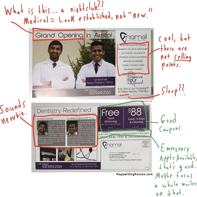 Dental Flyer Mailer Markup