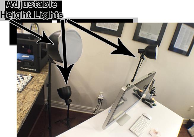 Desk lighting for video calls