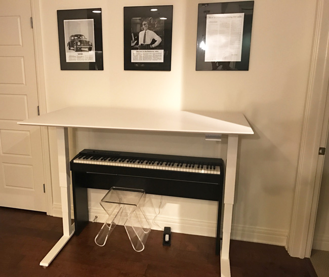 Desk Over Piano