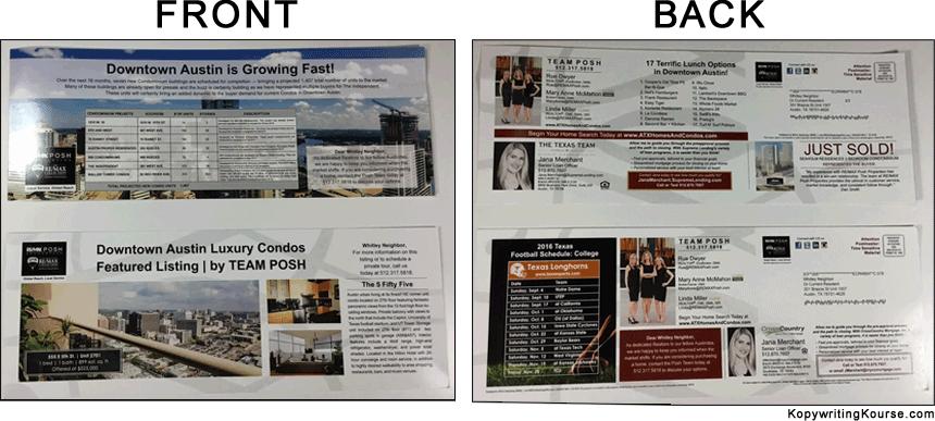 Direct Mail Condo Real Estate Team Posh