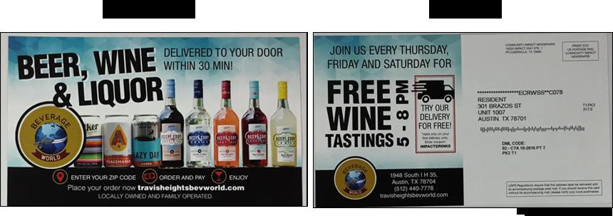 Direct Mail Liquor Flyer