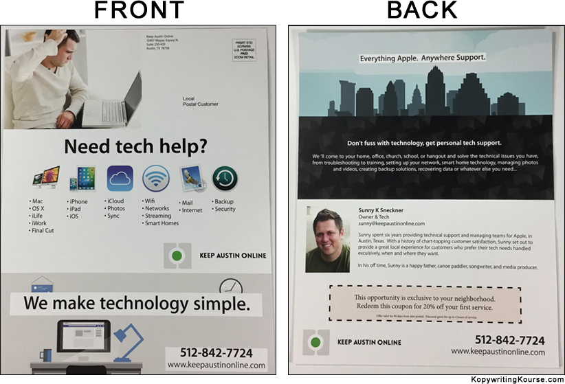 Direct mail tech Support