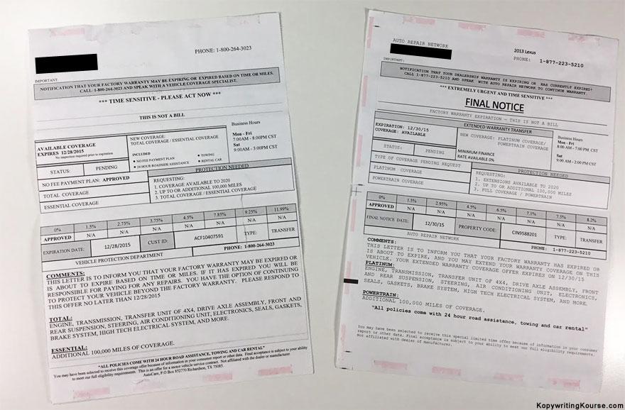 DMV Car Insurance Scam Mail