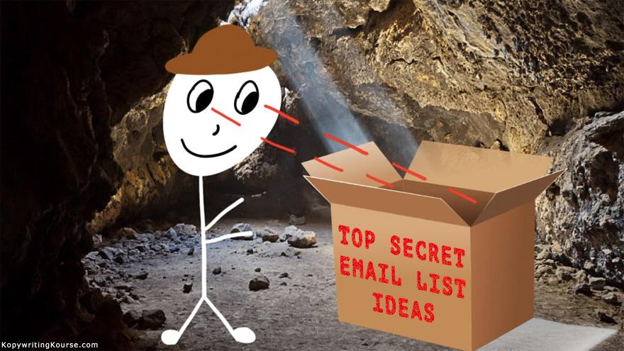 Email List Ideas Banner