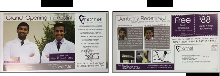 Enamel Dentistry Mail Flyer