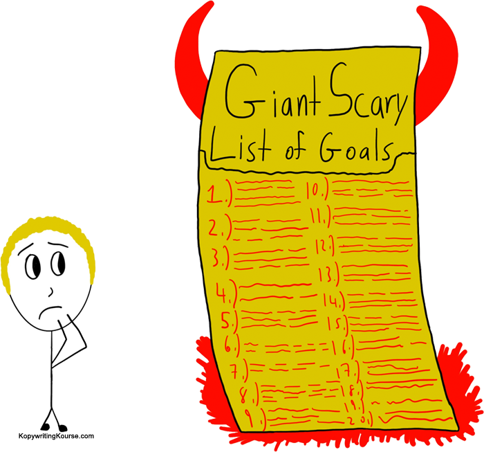Giant Scary List of Goals