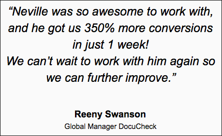 Good Results Testimonial Example