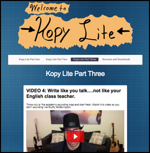 Kopy Lite Free Copywriting Course Screenshot