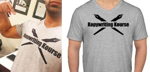 Kopywritingkourse tshirts