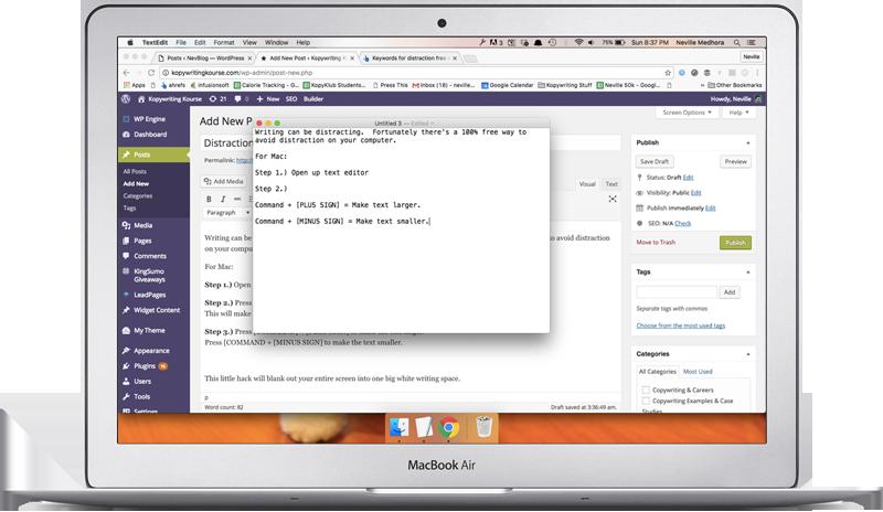 Mac Writing Distractions
