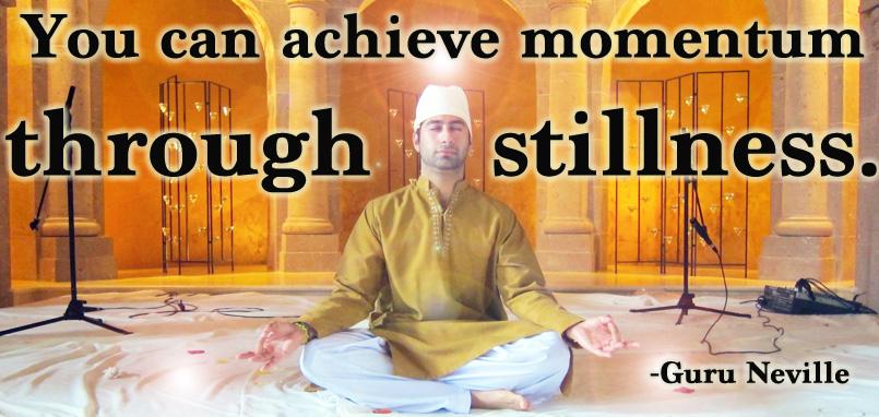 momentum through stillness