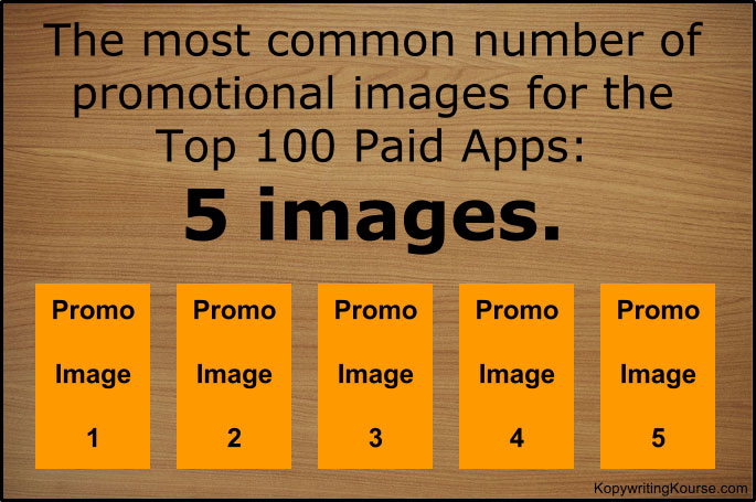 Number of paid promotional images for apps