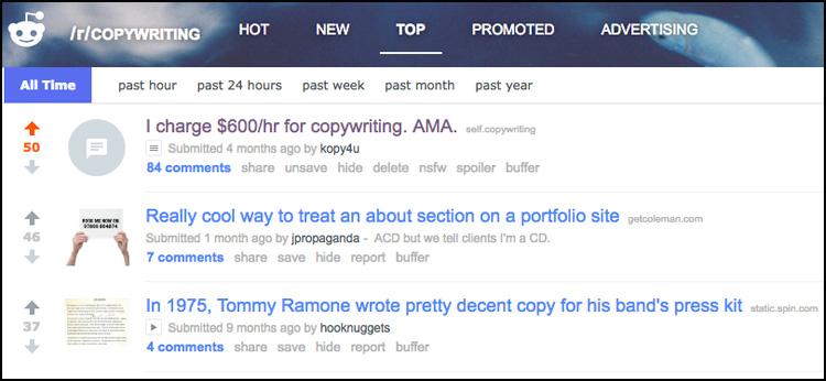 Reddit Copywriting