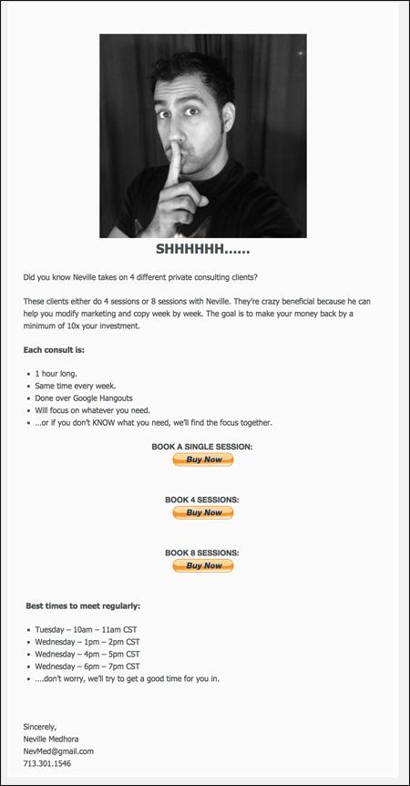 Secret Consults Page