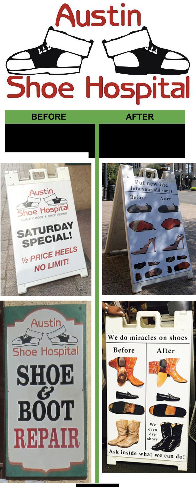 Shoe shop street advertising example
