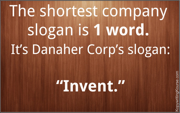Shortest Company Slogan Length