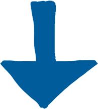 single blue down arrow