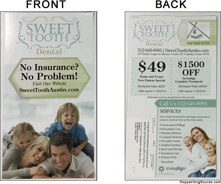 Sweet Tooth Dental Flyer