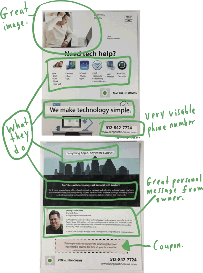 Tech Support Flyer Markup