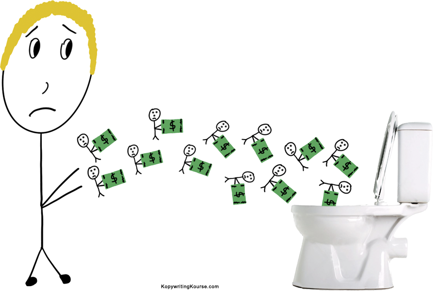 Throwing money in the toilet