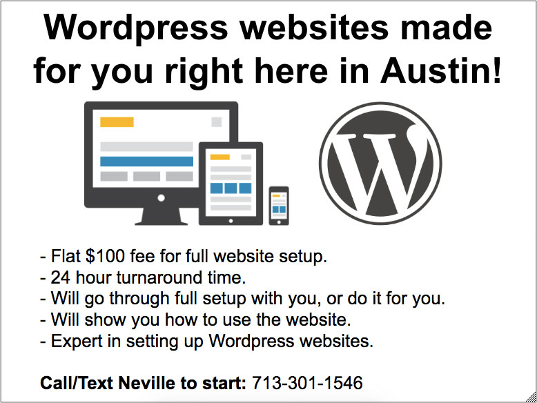 Wordpress Website Setup Ad Template