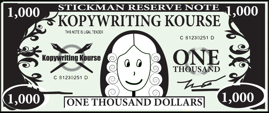 1000 kopywriting kourse money