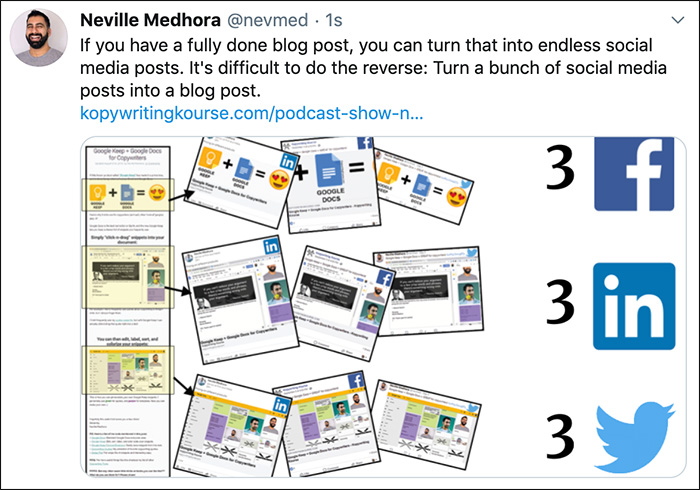 3 posts from a blog post