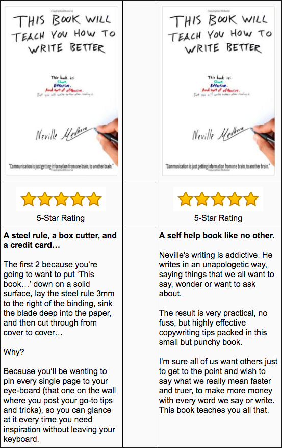 5 star rating book testimonial example