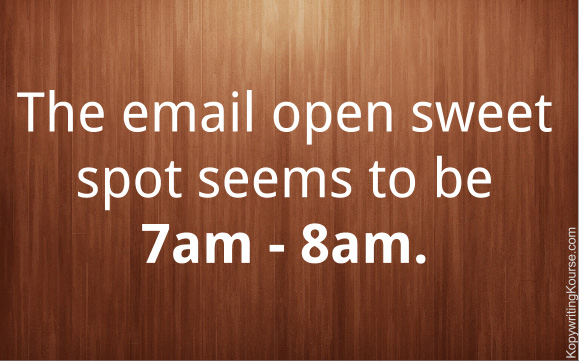 7am is best time to send email
