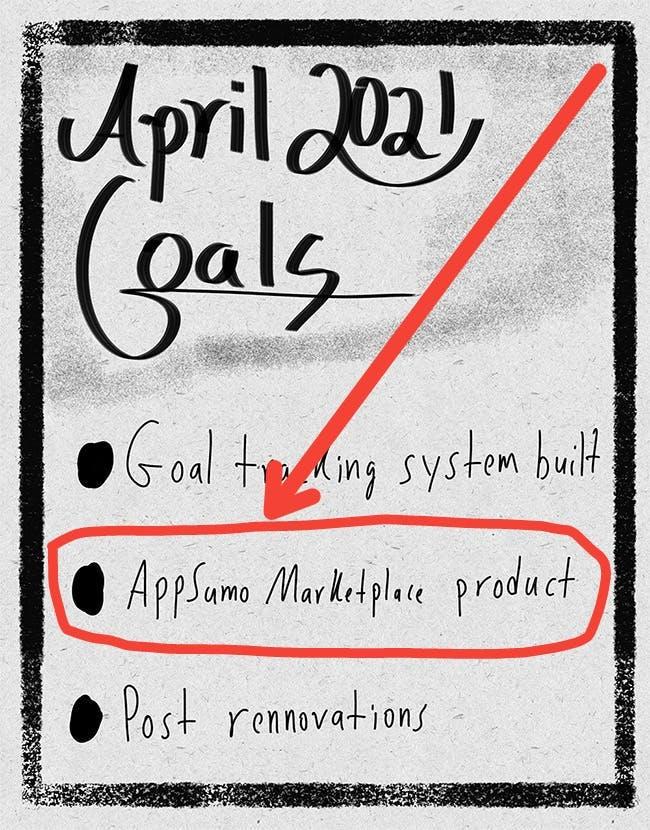 April goals appsumo