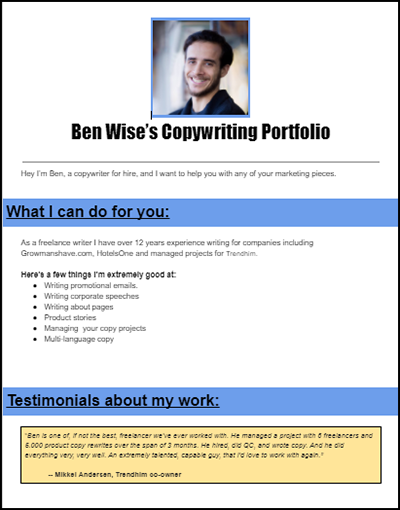Ben-Wise -portfolio