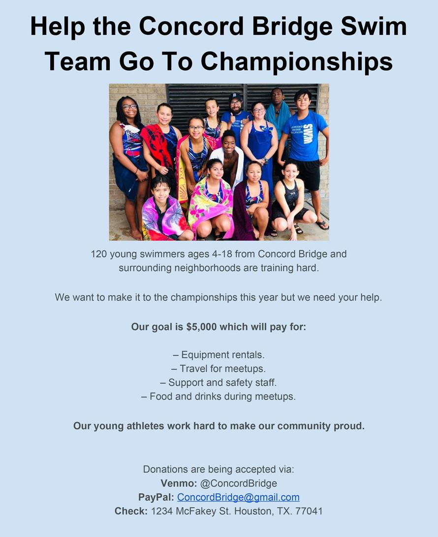 concord bridge swim team one page