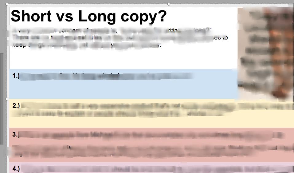 Copywriting Checklist Presentation   Google Drive