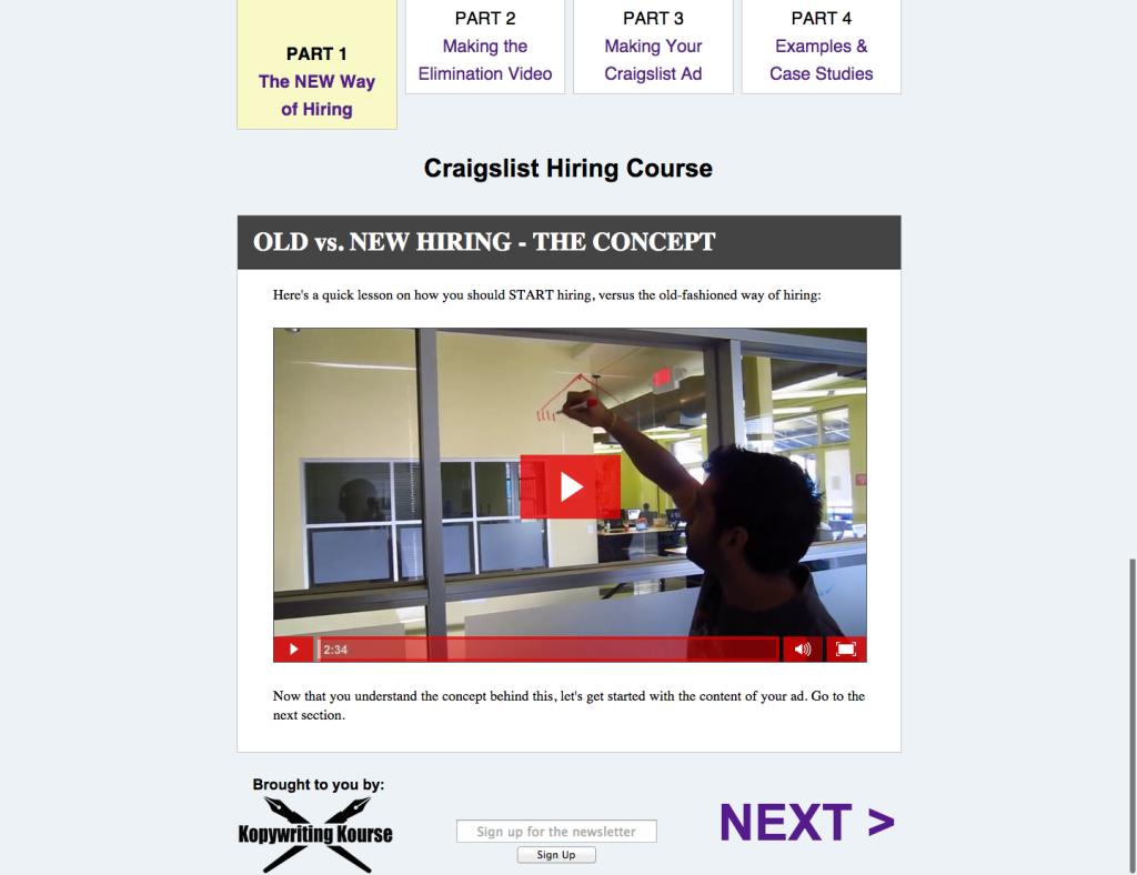 Craigslist Hiring Course   Part 1