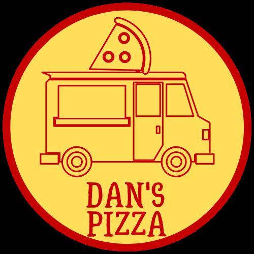 Dan's Pizza truck logo