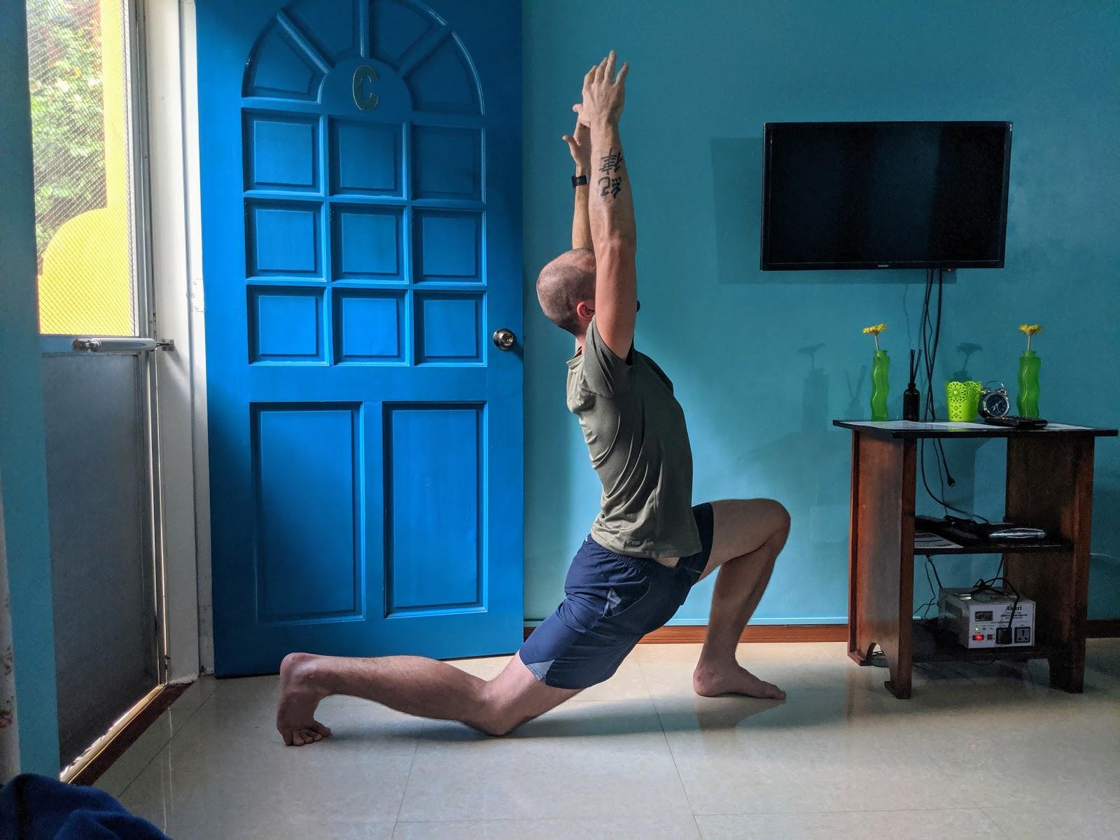 Hip stretch bad form