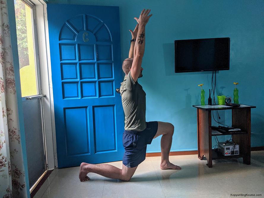 Hip stretch good form
