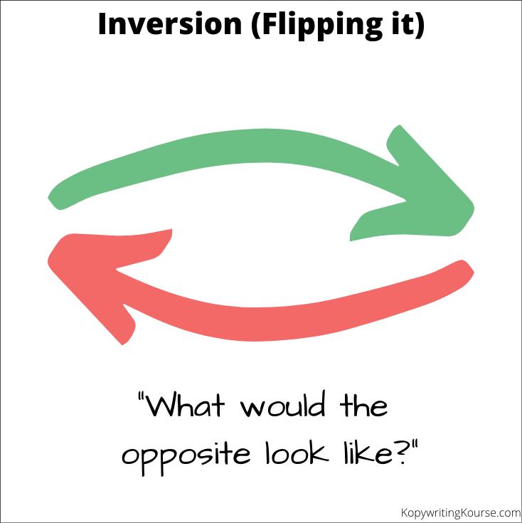 Inversion flipping it