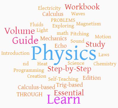 Learn physics word cloud