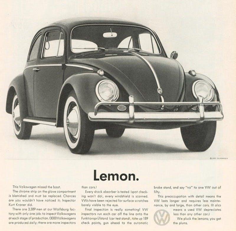 lemon vw ad