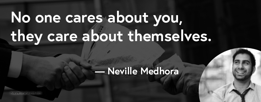 Neville Medhora quote write for others