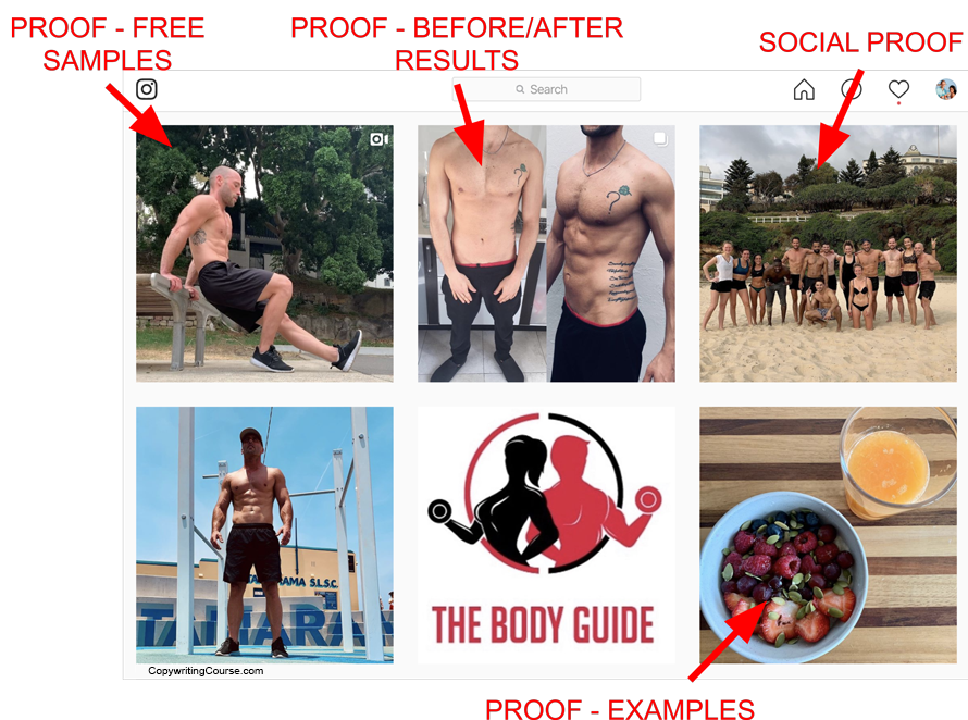 personal trainer social proof