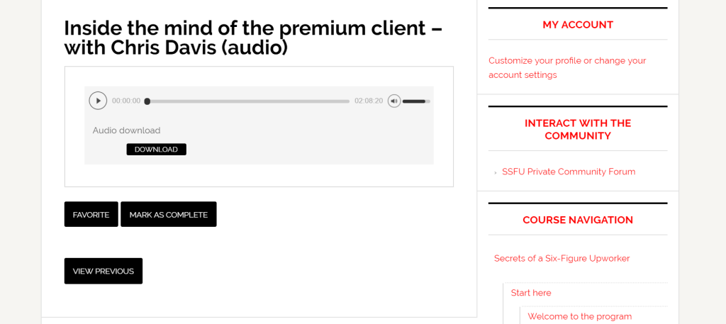 SSFU Audio Bonus Lesson